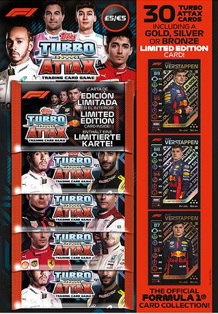 6 Sobres Formula 1 Turbo Attax Multipack