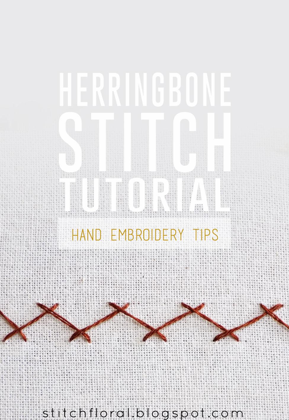 How to work herringbone stitch - Stitch Floral