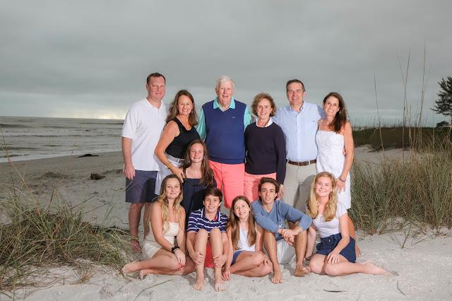 sanibel island family reunion on the beach