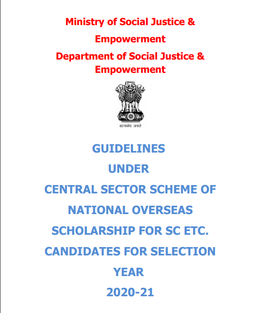 National Overseas Scholarship Scheme for Scheduled Castes, De-notified Nomadic/ Semi- Nomadic Tribes, Landless Agricultural Labourer and Traditional Artisans. Apply Online @ nosmsje.gov.in National Overseas Scholarship Scheme (NOS) | National Overseas Scholarship Scheme for Scheduled Castes, De-notified Nomadic/ Semi-Nomadic Tribes, Landless Agricultural Labourer and Traditional Artisans./2020/05/National-Overseas-Scholarship-Scheme-NOS-Guidelines-Apply-Online-nosmsje.gov.in.html