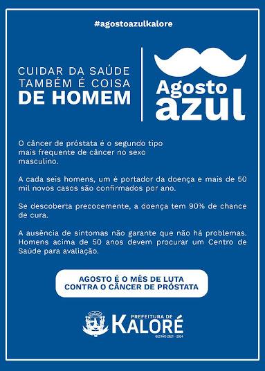 KALORÉ - Campanha Agosto Azul