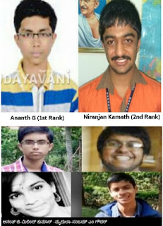 Karnataka CET Toppers 2016 State wise