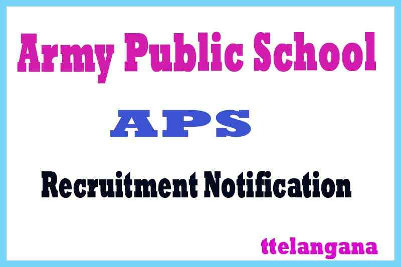 Army Public School APS Recruitment Notification