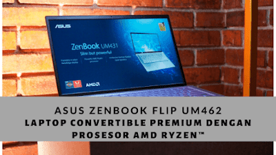 ASUS ZenBook Flip UM462, Laptop Convertible Premium