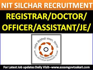 NIT, Silchar Recruitment 2019