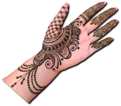 Traditional Mehndi Design for Front Hand