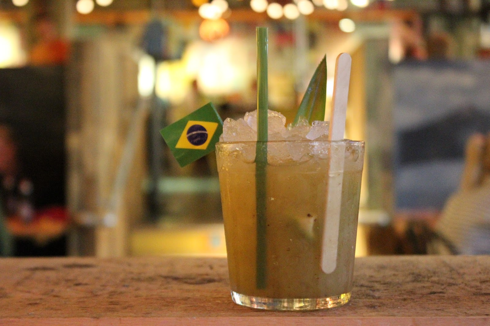 Caipirinha with brasilian flag