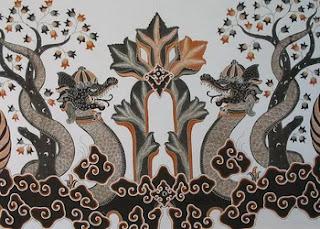 Batik Cirebon Motif Naga Saba