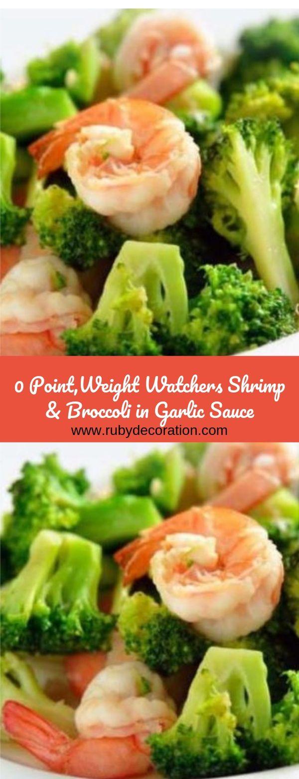 0 Point Weight Watchers Shrimp & Broccoli in Garlic Sauce