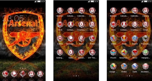 Download Tema Arsenal untuk Hp Android Apk - Fire