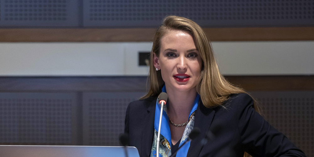 Julia BLOCHER, President of the International Youth Federation