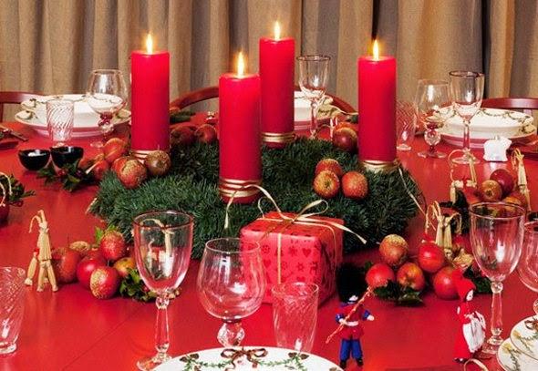 Decoración mesa navideña