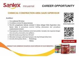 Lowongan Kerja S1 Terbaru Agustus 2021 di PT Sanlex