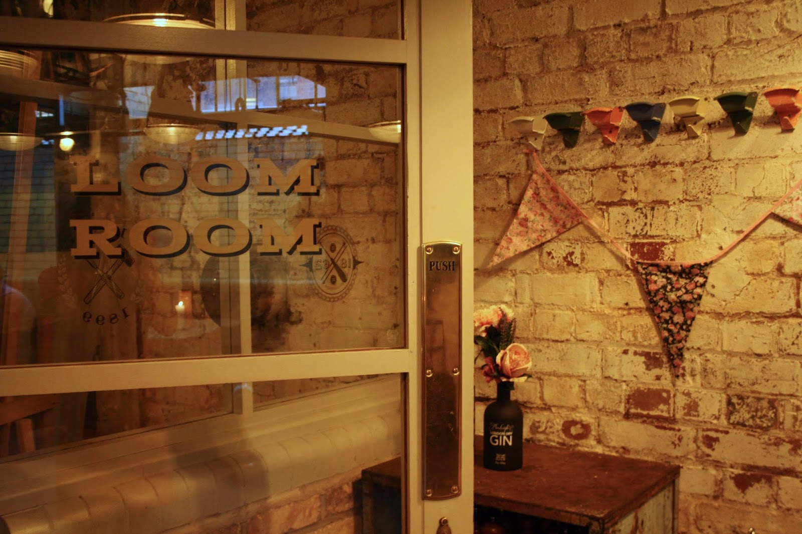 The door of the Cosy Club Leicester's Loom Room, its private event venue
