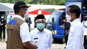 Presiden Jokowi Pastikan Pemerintah Pusat Bangun Kembali Gedung- Gedung yang Ambruk