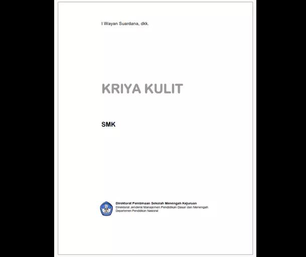 Buku SMK Seni dan Pariwisata Kriya Kulit
