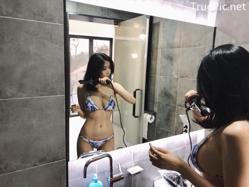 Choi Somi - Blue White Bikini - Korean model and fashion - Picture 10