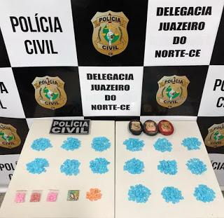 Mauriti - Casal é preso com cerca de 750 comprimidos de ecstasy.