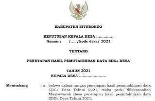 Download Format SK Penetapan Data SDGs Desa