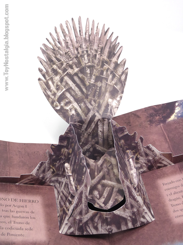 Game Of Thrones - A Pop Up Guide To Westeros - 2014 iron throne
