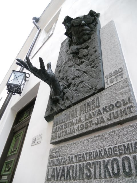 Plaque celebrating Voldemar Panso in Tallinn, Estonia