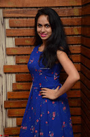 Pallavi Dora Actress in Sleeveless Blue Short dress at Prema Entha Madhuram Priyuraalu Antha Katinam teaser launch 022.jpg