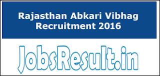 Rajasthan Abkari Vibhag Recruitment 2016
