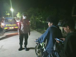 Personel Polsek Malua Laksanakan Patroli Rutin Blue Light Guna Minimalisir Gangguan Kamtibmas