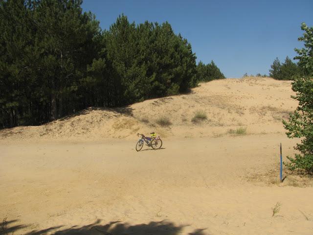 Дорога в Олешковские пески