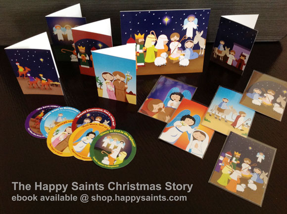Happy saints 2016 use them as gift tags christmas tree decorations table pieces matching games share the nativity story with your family and friends in fun and colorful fandeluxe Images