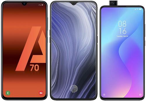 Samsung Galaxy A70 vs Oppo Reno Z vs Xiaomi Mi 9T 64G