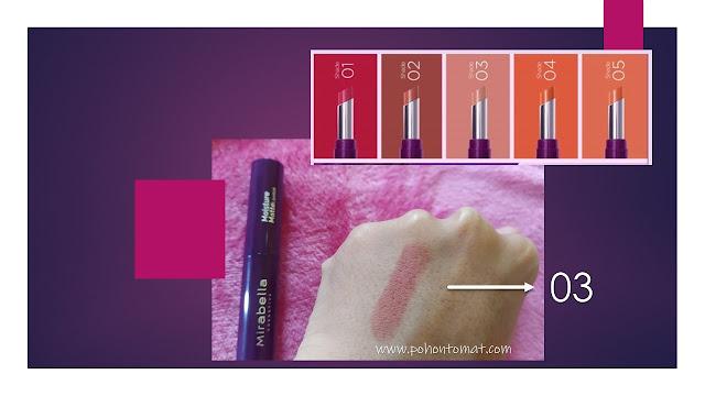mirabella mousture matte lipstick
