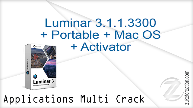 Luminar 3.1.1.3300 + Portable + Mac OS + Activator    |  320 MB