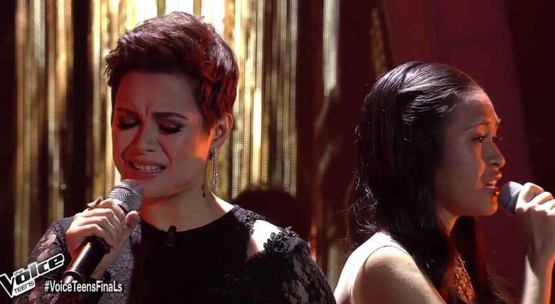 """Coach Lea and Mica sing """"The Prayer"""" on The Voice Teens Grand Finals"""