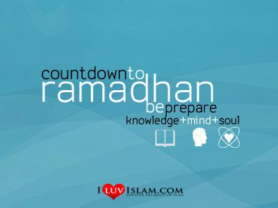 Menghitung Hari Menuju Bulan Ramadhan