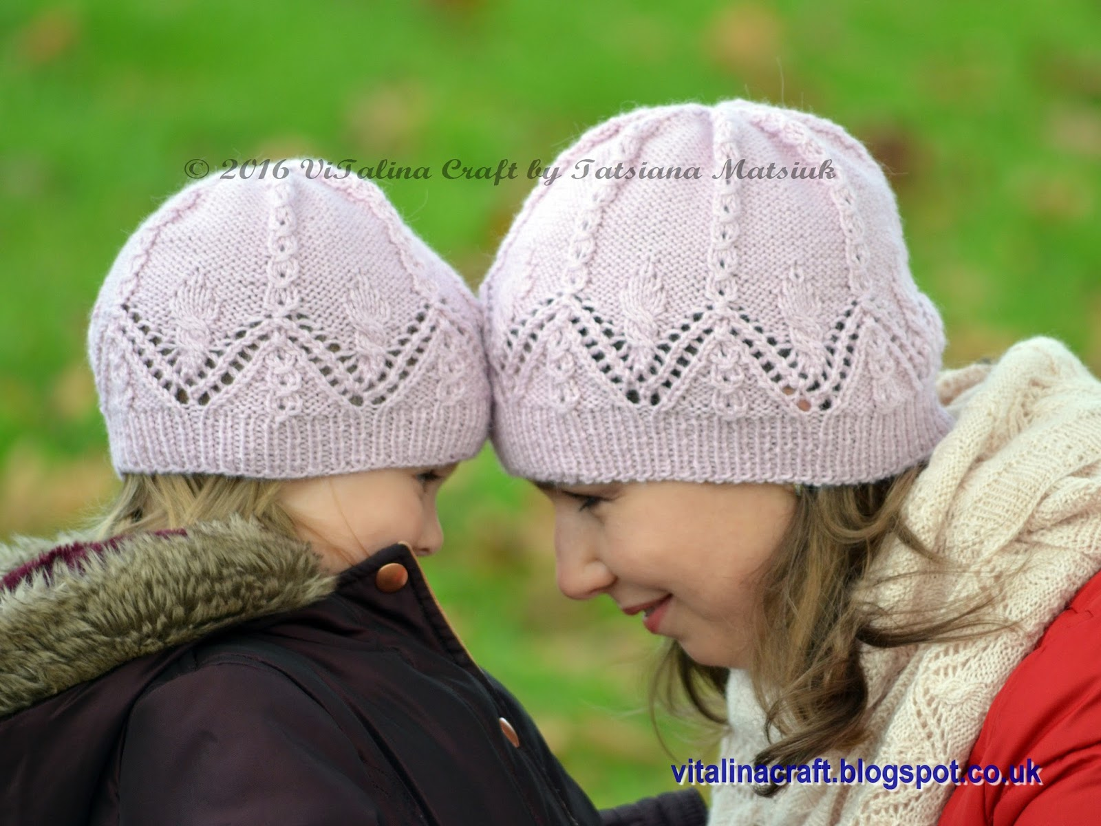 Knitting Pattern For Lace Baby Hat : Lace Charm Hat and Cowl Set ViTalina Craft