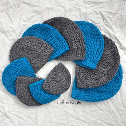 Double Crochet Hat in 10 Sizes - Free Pattern