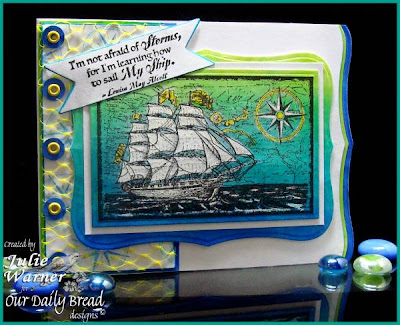 Our Daily Bread designs Smooth Sailing Surging Sea Designer Julie Warner