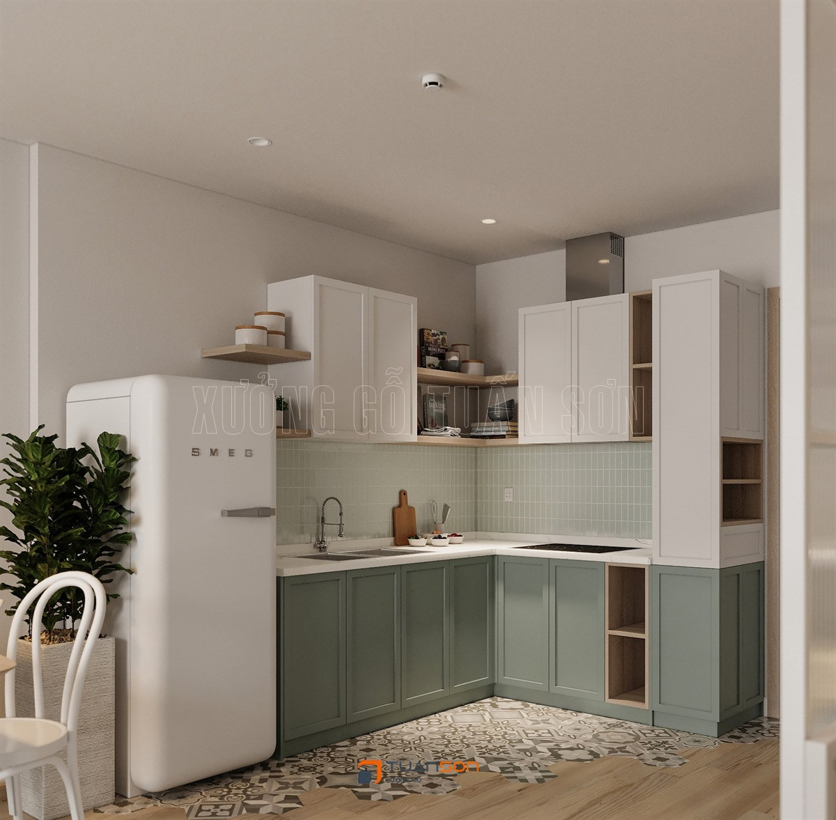 Thiết kế nội thất căn hộ 1 phòng ngủ + 1 (43m2) Vinhomes Ocean Park