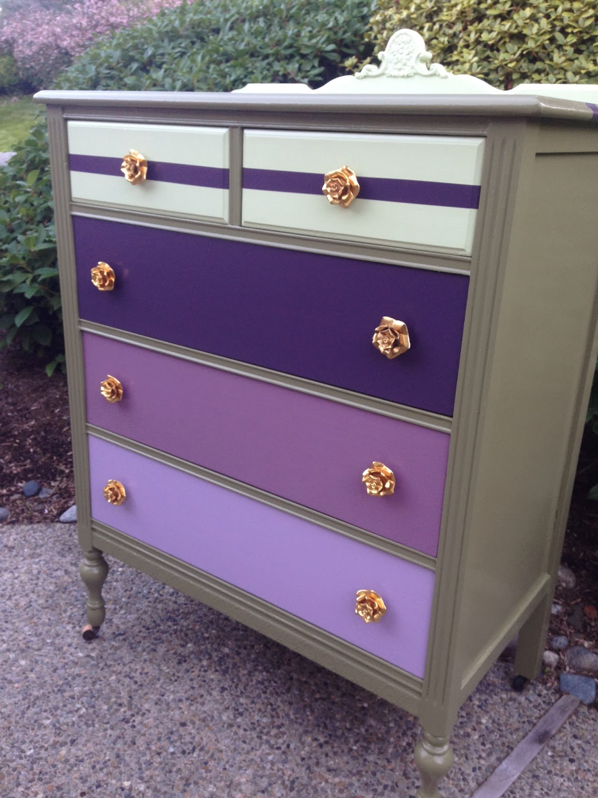 Sophisticated Junk Pile Military Green Dresser With