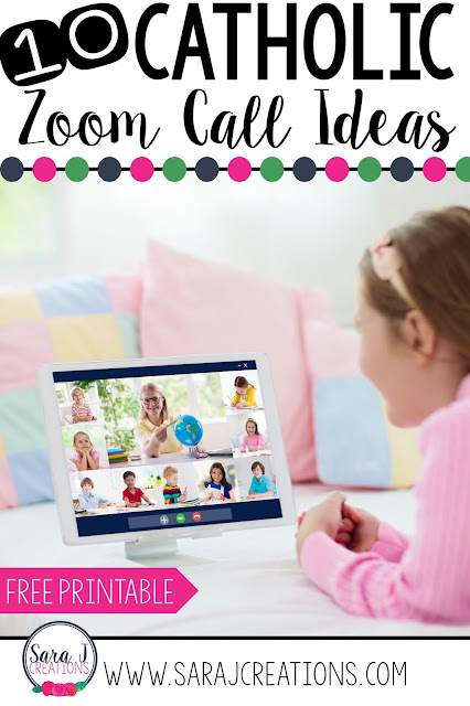 Engage your students during Zoom (Google Meet, etc) with these 10 ideas for teaching the Catholic faith during your video call.