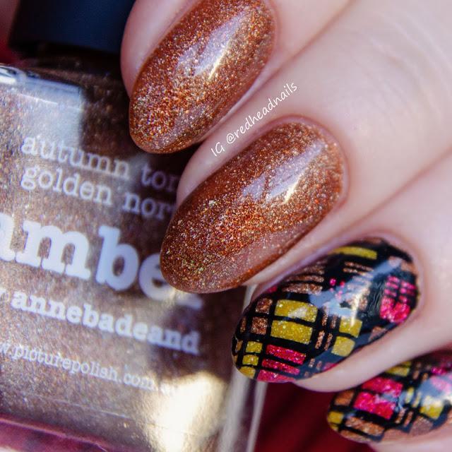 Picture Polish Amber mani