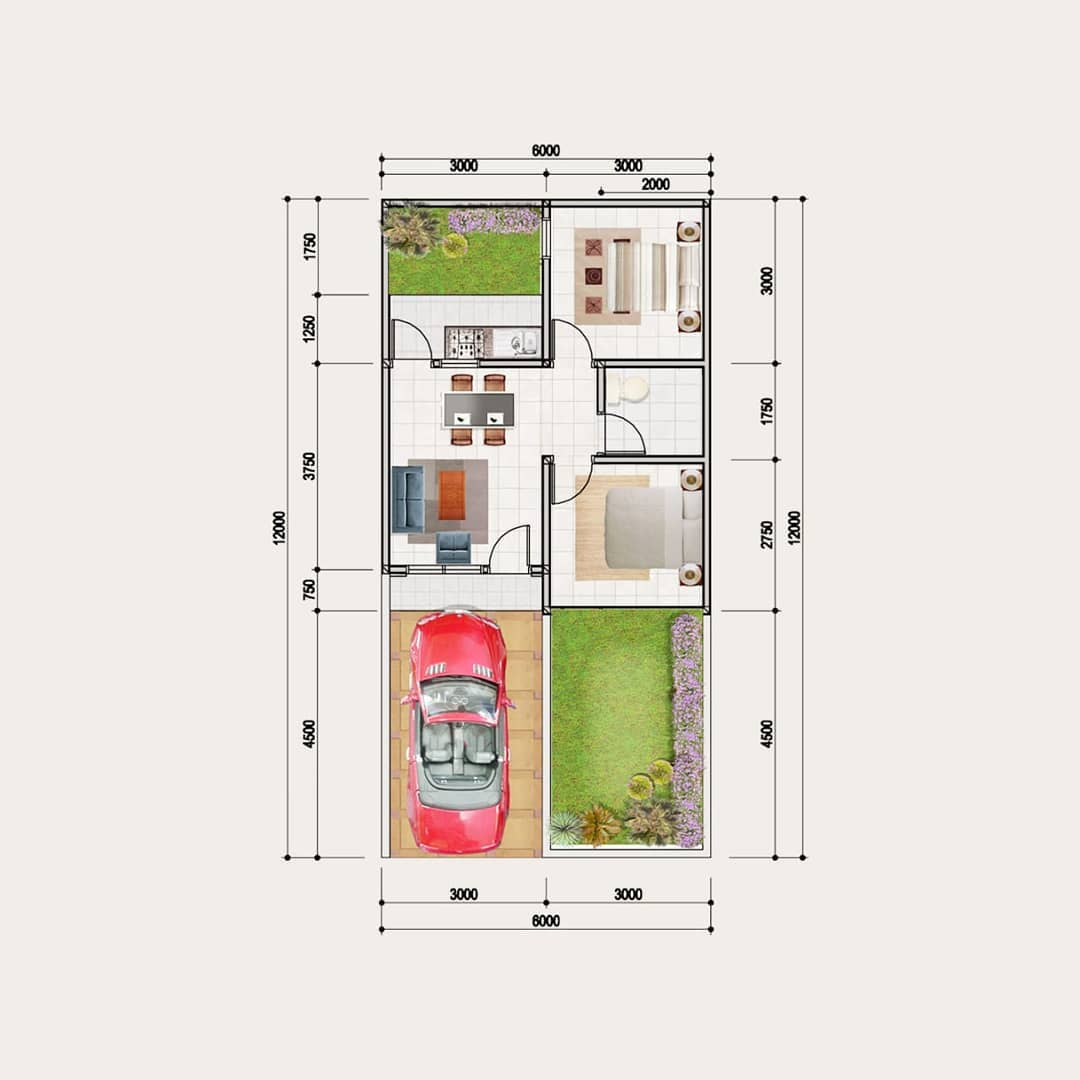 Kumpulan Desain dan Denah Rumah Minimalis Type 36 Yang ...