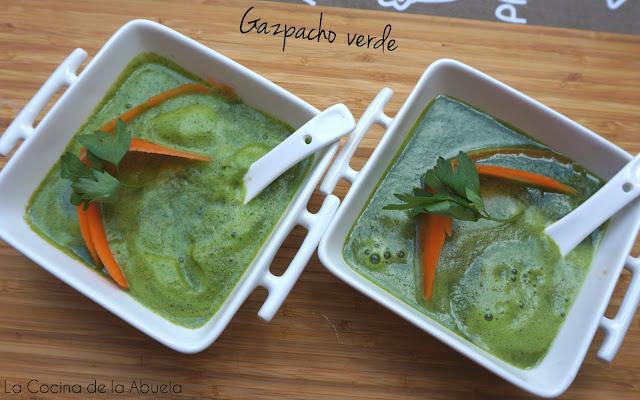 Gazpacho verde. Quemagrasas. Detox. Bebida milagro.