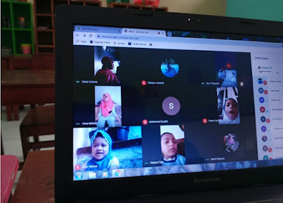 Pembelajaran TK ABA Klepu dengan Google Meet