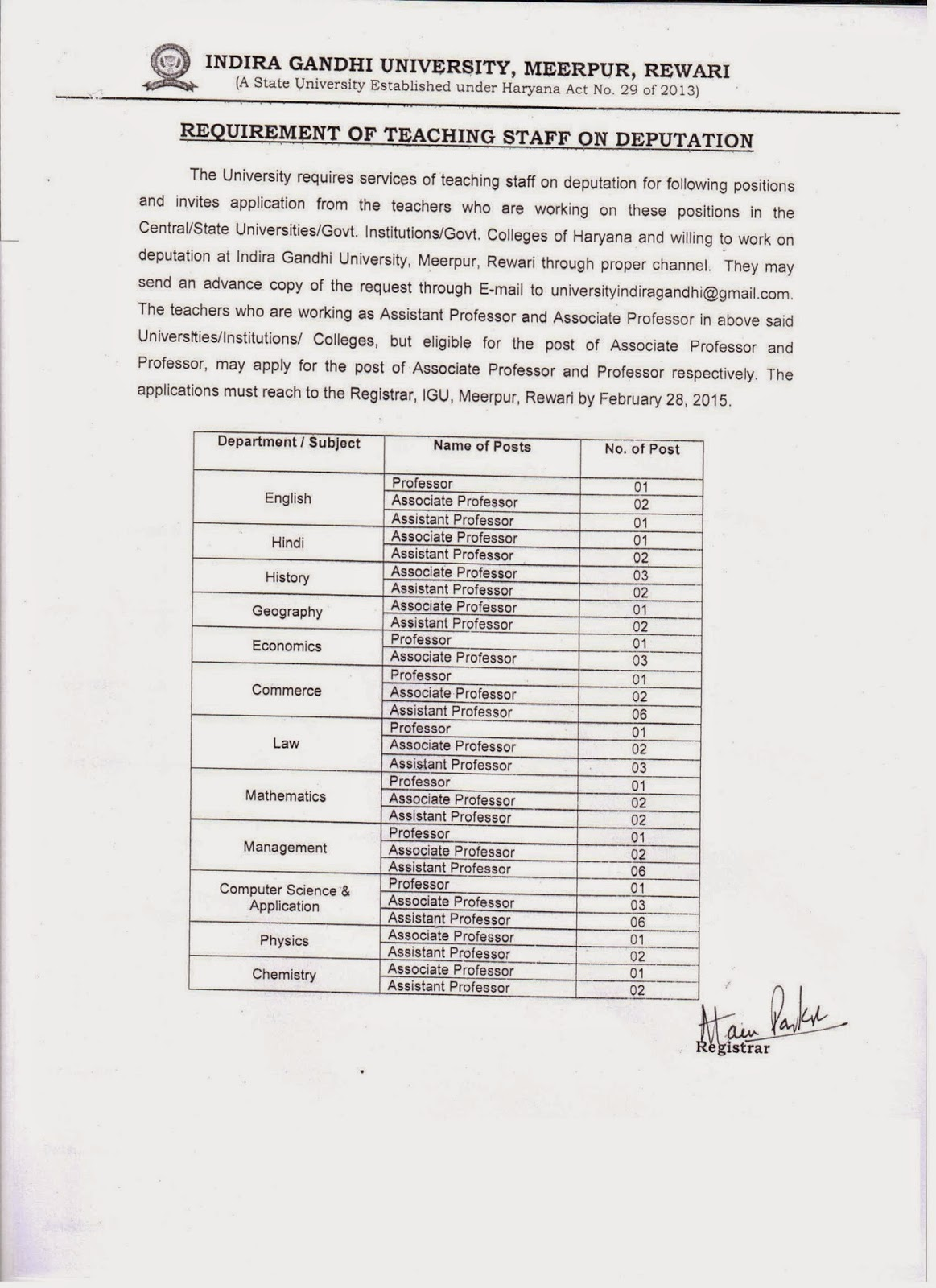 Indira Gandhi University Meerpur|IGU Meerpur Haryana
