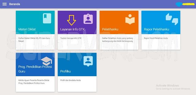 buka layanan info gtk dengan login sim pkb