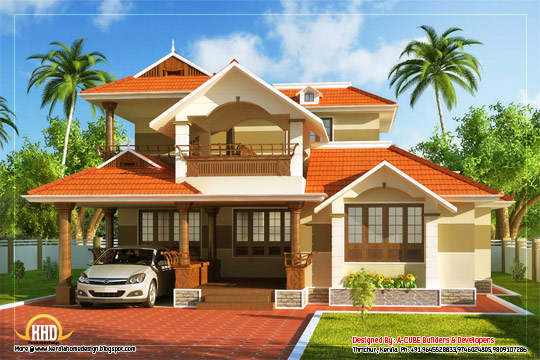 Kerala Style Traditional House - 186 Square meter (2000 Sq. Ft)- February 2012