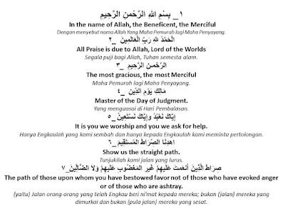 Three In One Arti Surat Al Fatihah