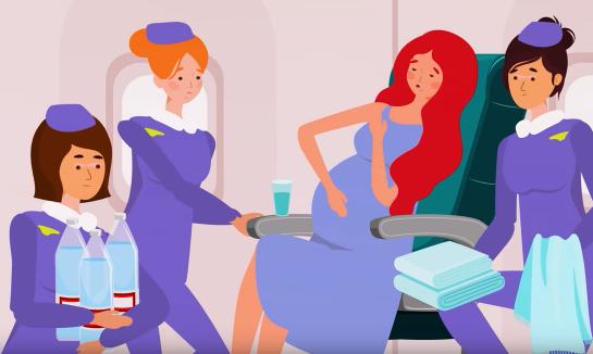 Bahaya Bayi Lahir di Pesawat